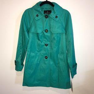 London Fog Jade Color Trench Coat
